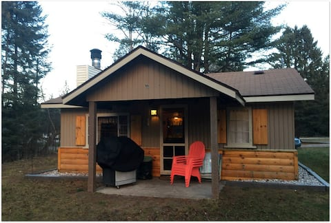 RIVER BEND LODGE: Directly on the Au Sable River- Bring your canoe here!