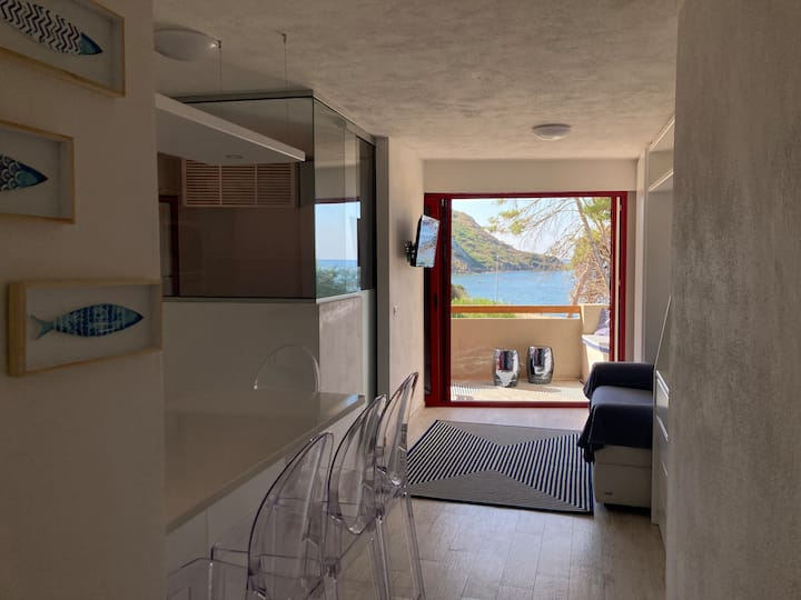 Frontemare comfort e design in 30m ben organizzati