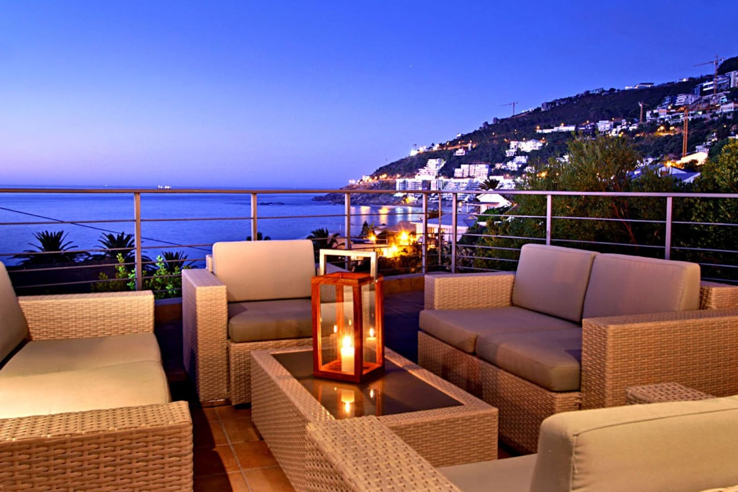 Outdoor entertaining with stunning views