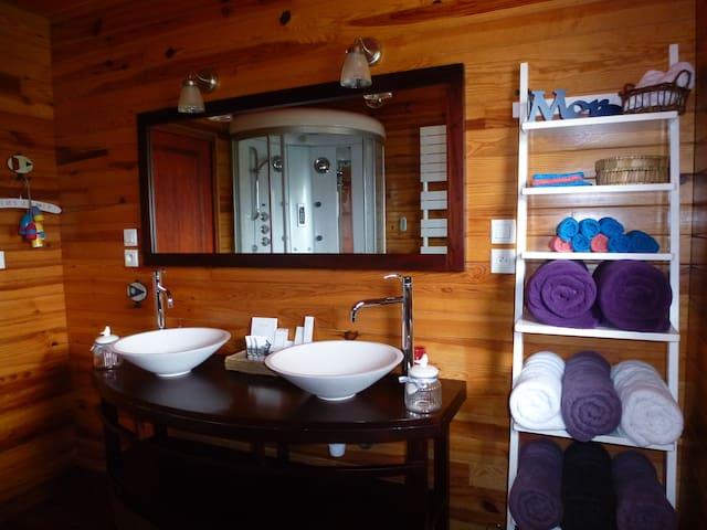 Location   30m de la mer Spa,Sauna,kayak,vélos