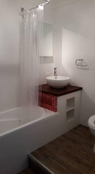 combined bath/ shower