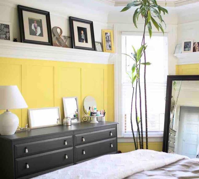 Master bedroom dresser & full-length mirror