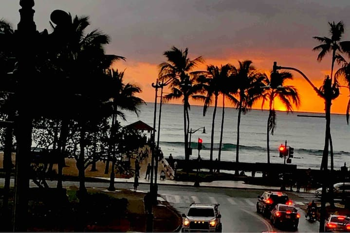 Wild  Wonderful and steps to Waikiki Beach Water
