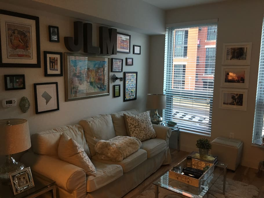 Living room area (couch can sleep 1 - not a pullout)