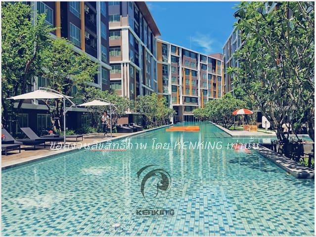Dcondo บางแสน วิวสระน้ำ Bansean Poolview  Chonburi