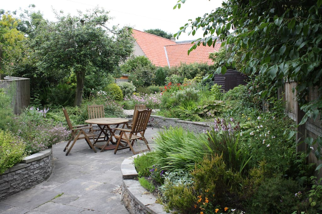 The secluded garden -ideal for al fresco meals.