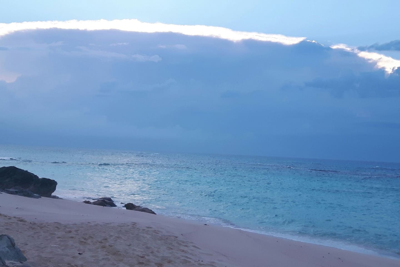 One morning walking on the beach...breathtaking!