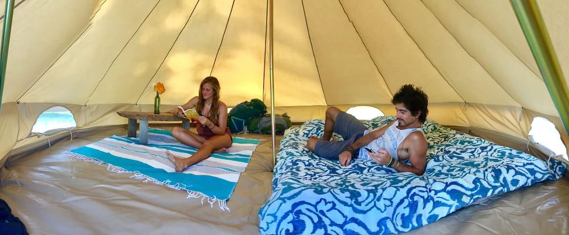 Lakeside Volcano views + Glamping Tent + Eco/Fun!! - Santa Cruz la laguna - Sátor