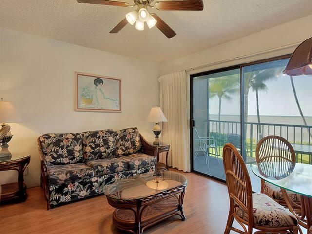 Tropical Style+Great View! Kitchen, Lanai, Flat Screen, Ceiling Fans–Molokai Shores 229