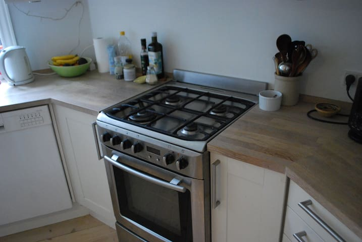 Gas stove in the kitchen