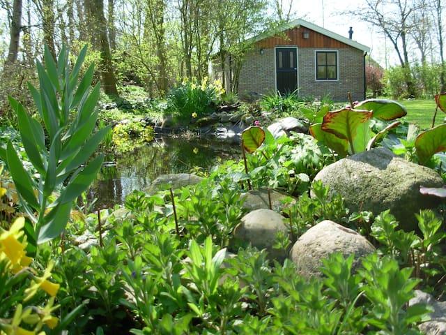 Tuinhuis in sfeervolle tuin