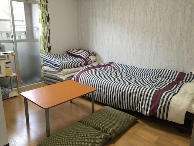 Osaka Cozy clean room B. Namba.Nara.Kyoto.Kobe. - Ōsaka-shi - Apartment