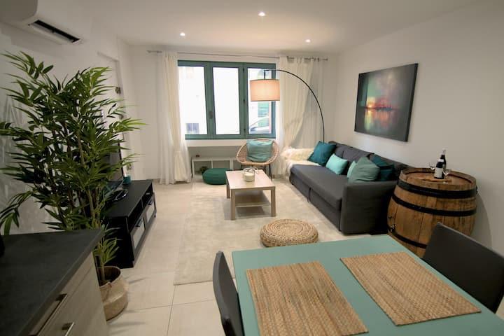 Appartement T3 plein centre entre jardin et mer.