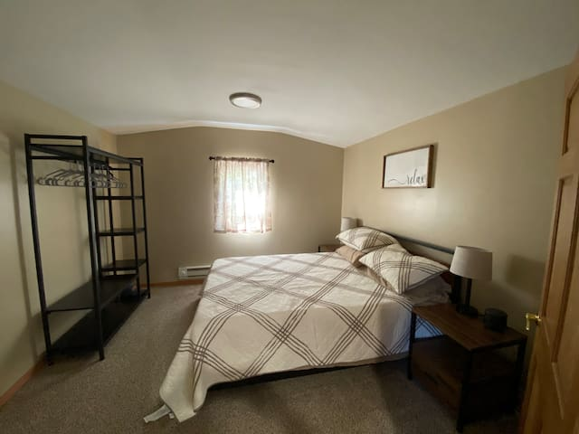 Master Bedroom off of the kitchen for extra privacy.