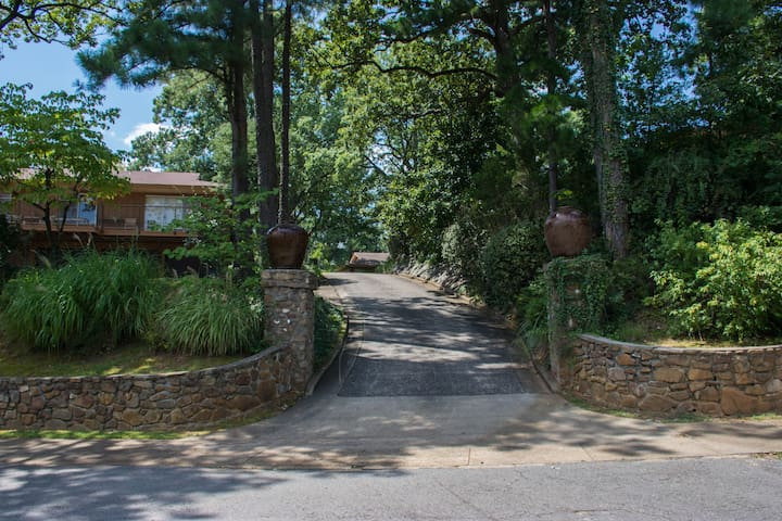View of Entrance to Allsopp Estate Driveway from Fairview Road & to the property's parking area.