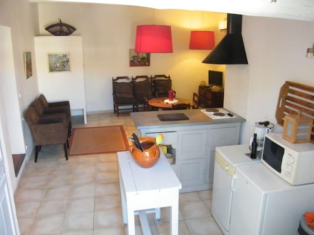 Eygalieres,logement centre village,clim,terrasse - Eygalières - Wohnung