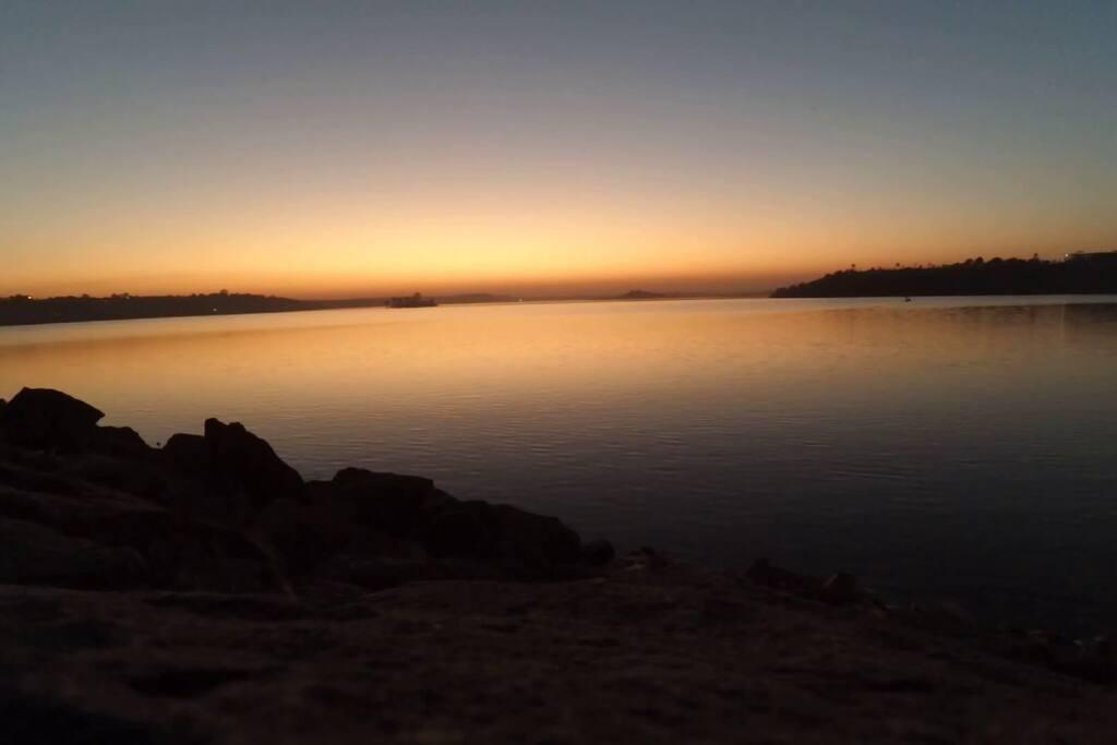 Sunset at Kaliyasot Dam Nearby