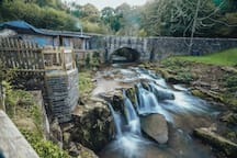 River and waterfall setting with your own balcony,bedroom / windows views of this stunning and unique location in the Brecon Beacons
