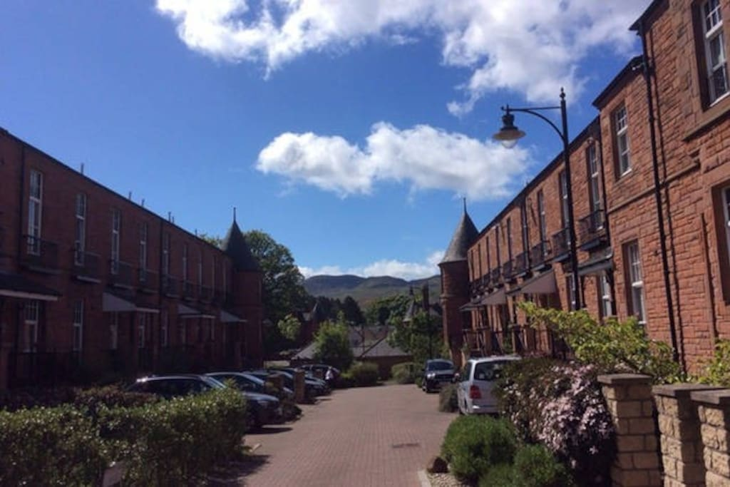 View at front door, South to the Pentland Hills