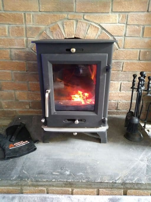 Lovely woodburner, perfect for chilly evenings
