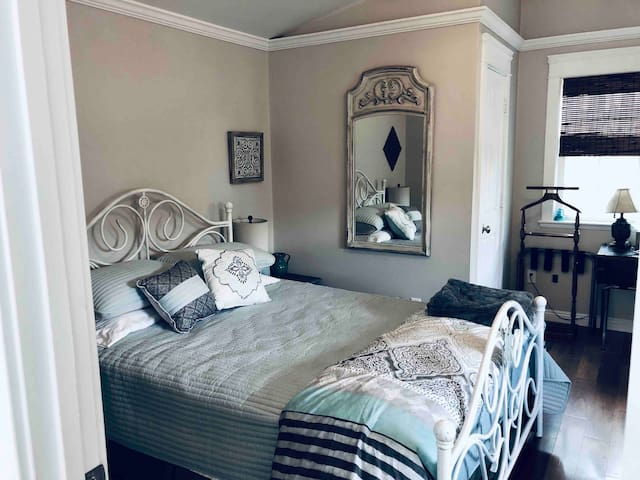 Master suite, with comfy queen bed, walk-in closet and private bath