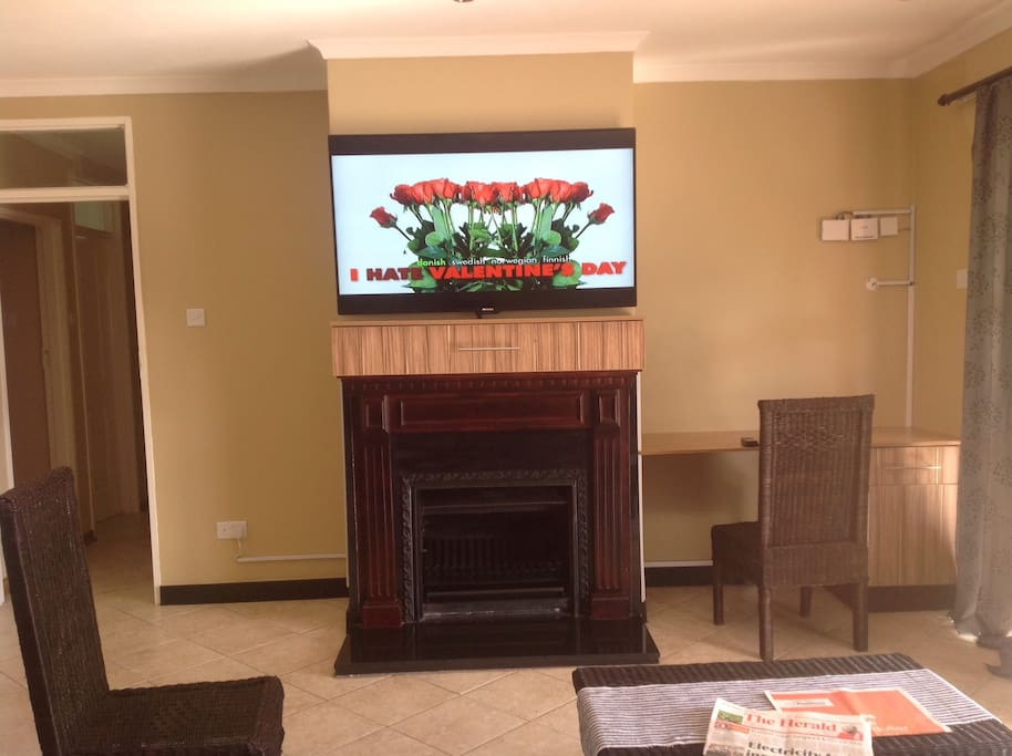 The TV in the lounge