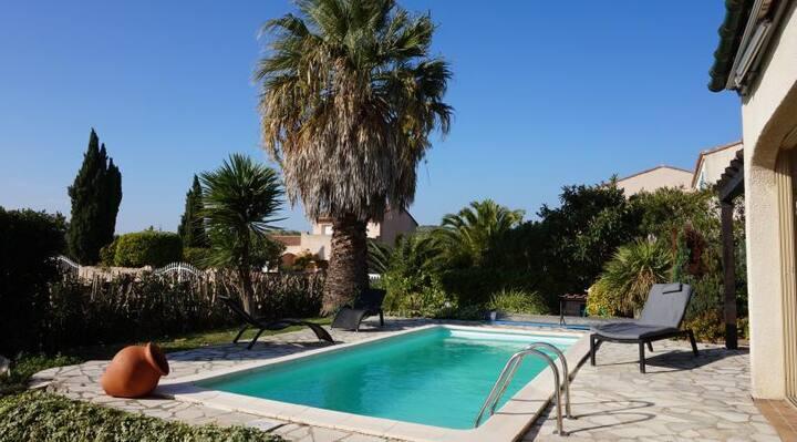 Maison sous son palmier
