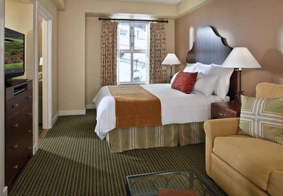 Separate lock off suite bedroom