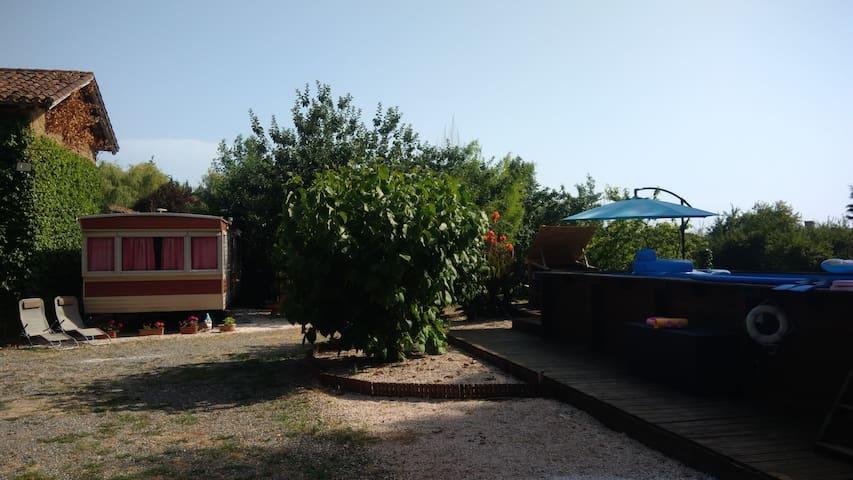 Mobilhome  piscine privée entre Marciac et Nogaro