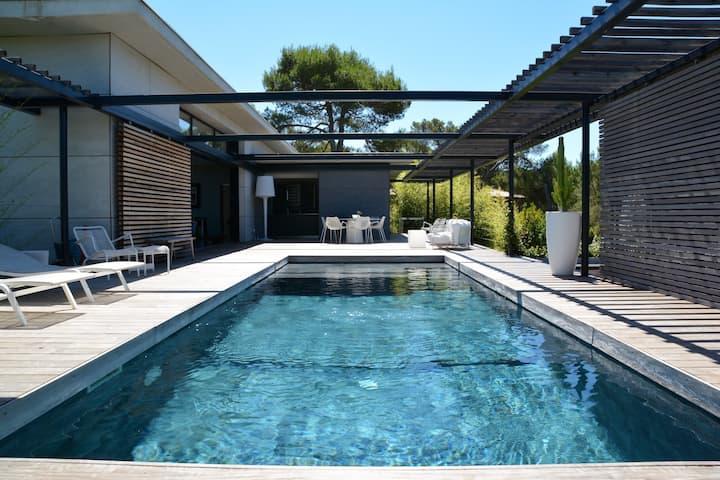 Stunning architectural villa with views