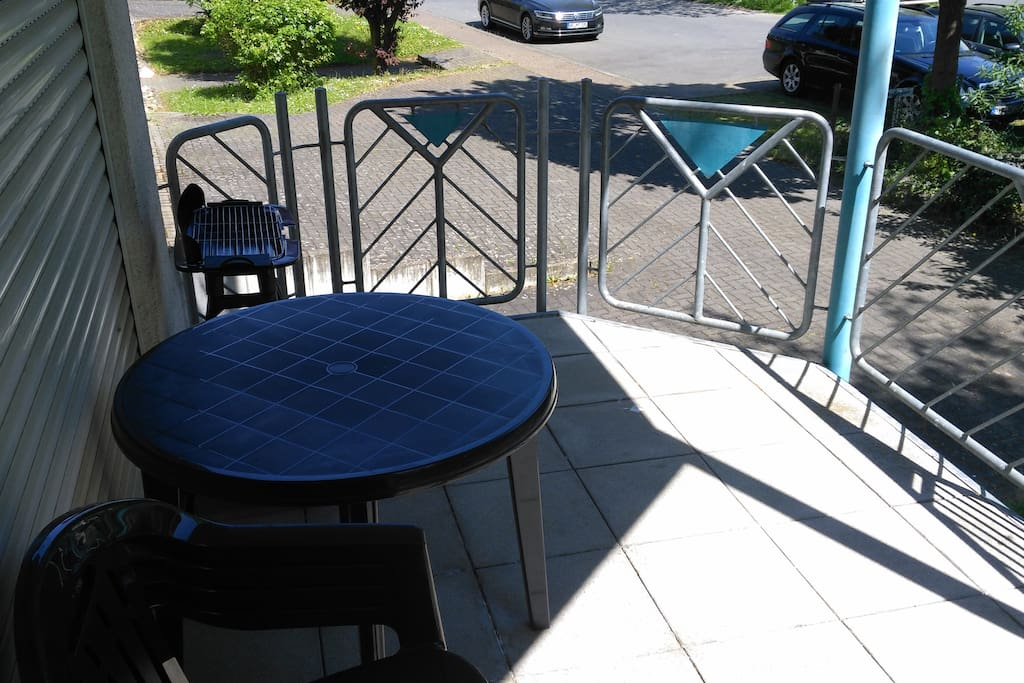 Balkon mit Mobiliar