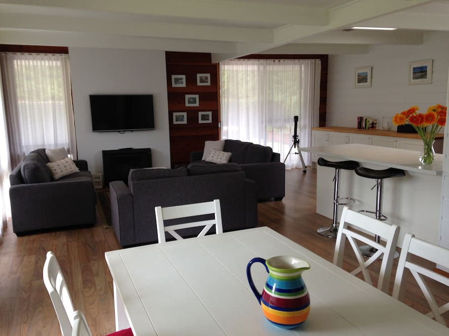 Open meals and living area