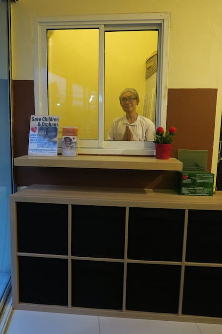 Reception. Friendly staff will welcome you.