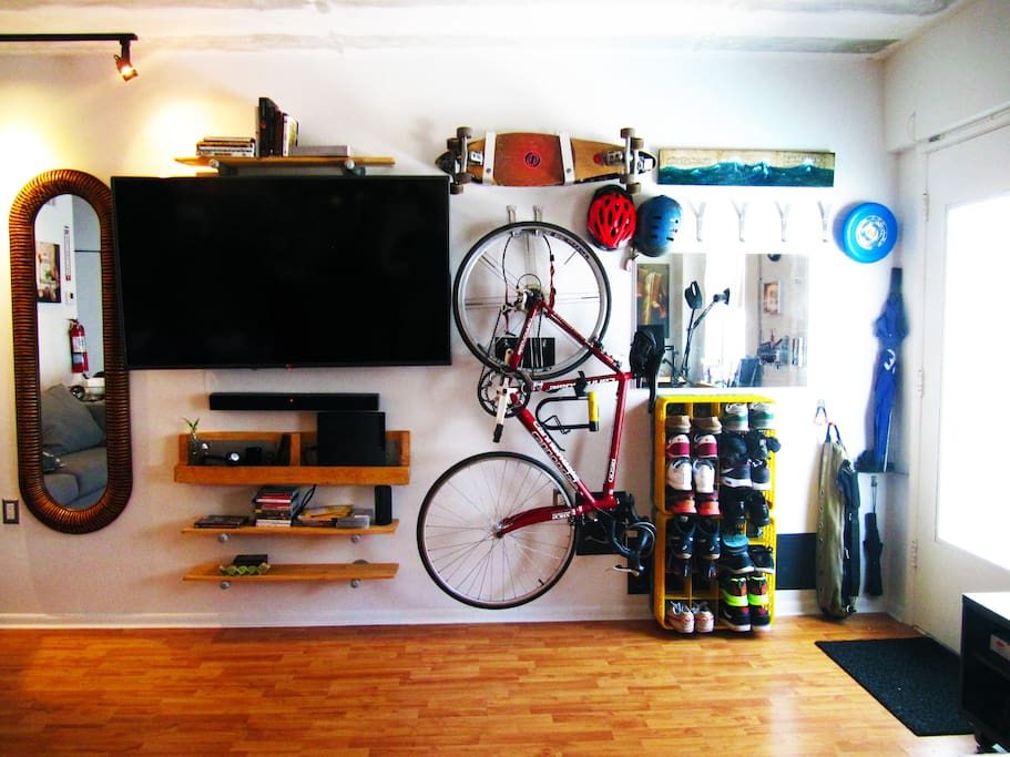 """60"""" TV + PLAYSTATION! (bike not included)"""