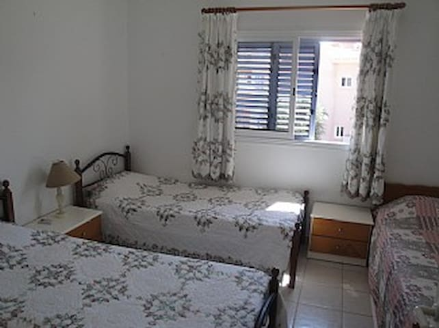 Bedroom 2 Sleeps 3 with aircon.