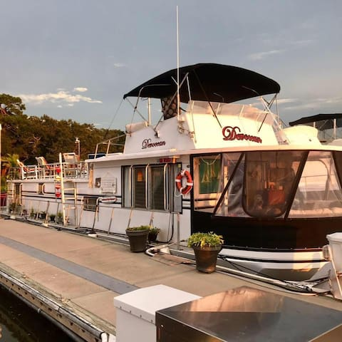Houseboat, Floating Tiny House, Truly Waterfront