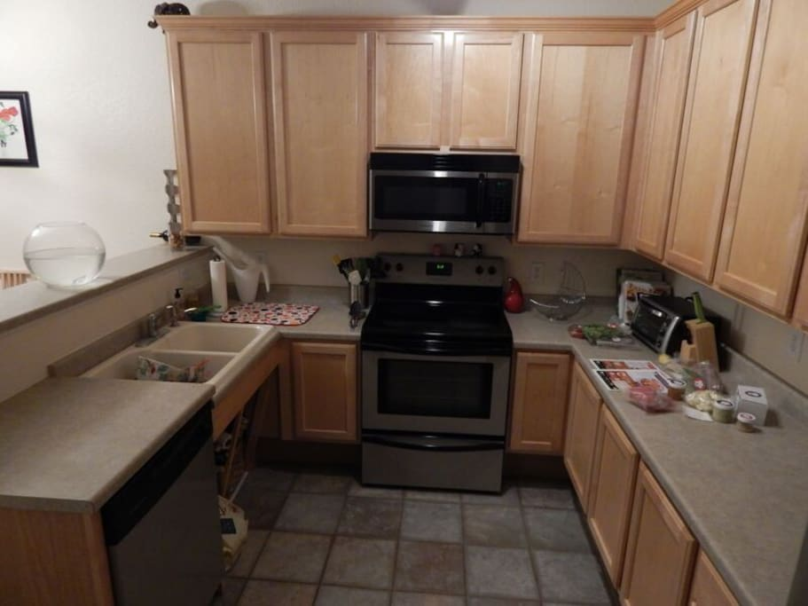 Large Kitchen with all silverware, utensils, cooking supplies and spices