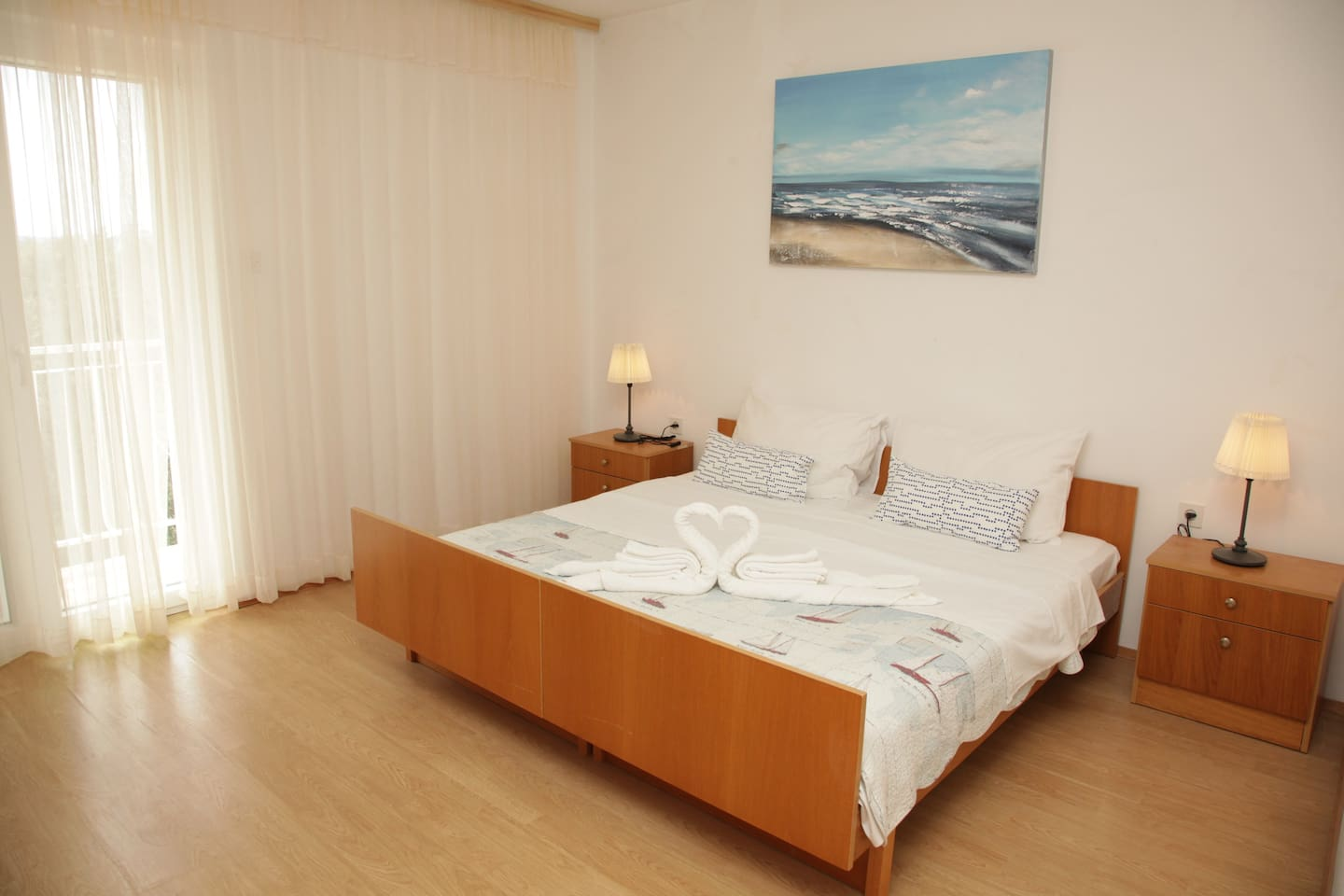 Bedroom with view of Adriatic sea