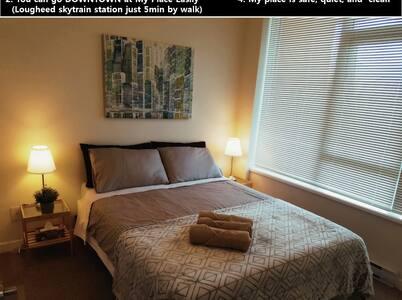 ☆1☆ New~!! Mordern one Bedroom Lougheed  stn 5min