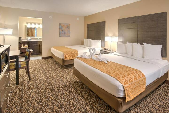 Superb Double Two Double Beds At Pigeon Forge