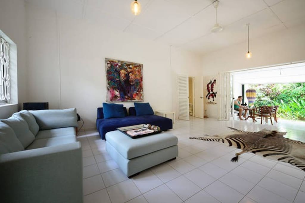 Living area opens out to verandah