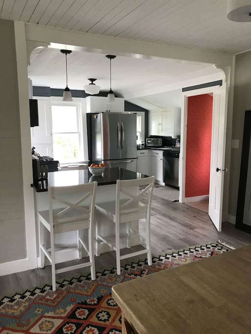Open dining/kitchen area
