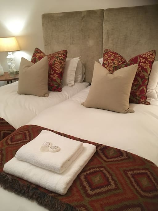 Two comfortable separate beds.