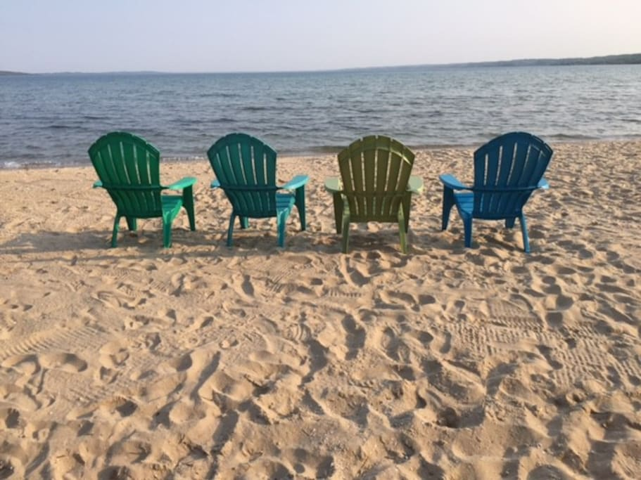 Summer 2016 Beach  - private 150' of frontage on West Grand Traverse Bay!