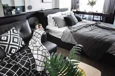 Modern en stijlvol gloednieuw appartement, 2 minuten tot BTS