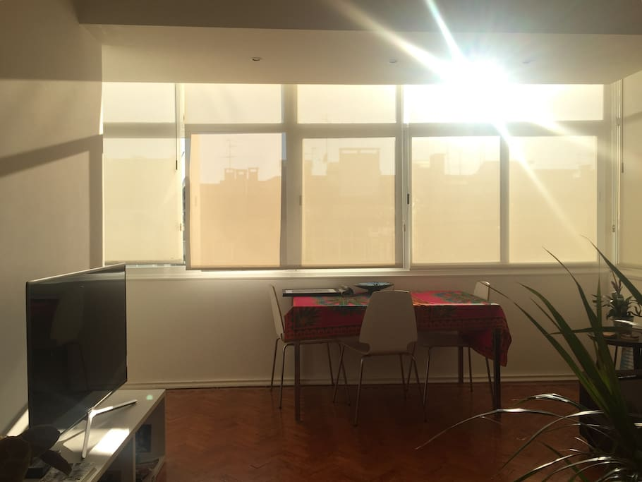 Our very sunny living room!