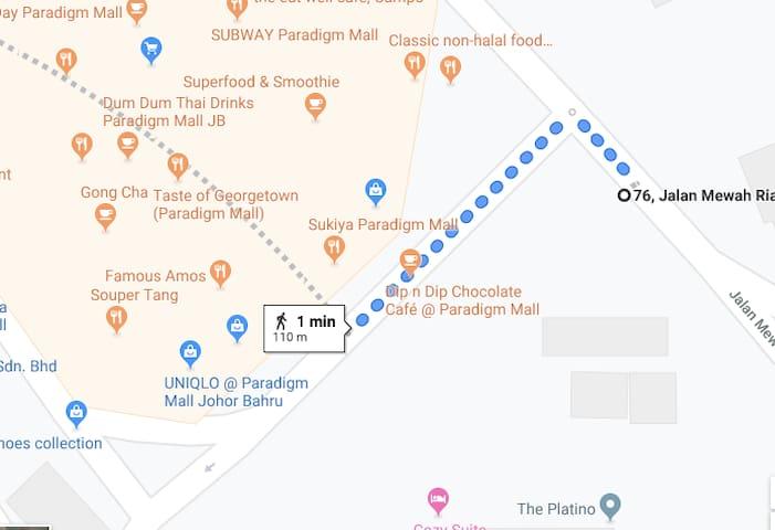 1 MIN WALKING DISTANCE TO PARADIGM MALL