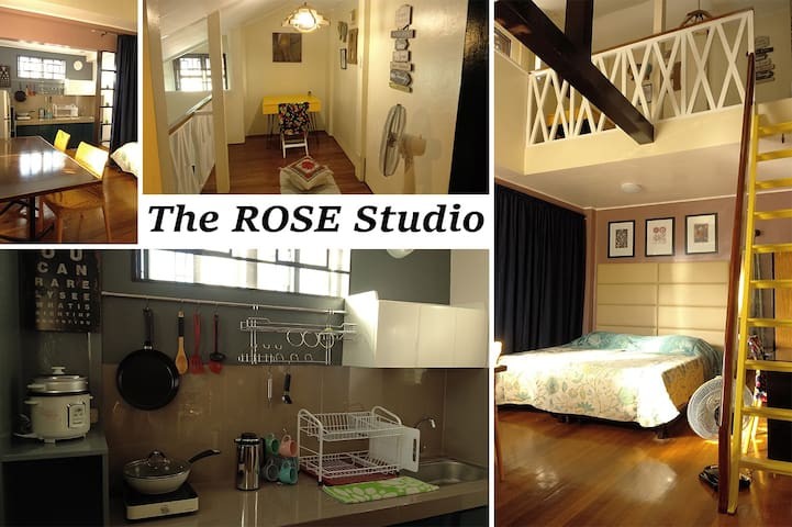 Rose Studio - spacious room with cozy loft