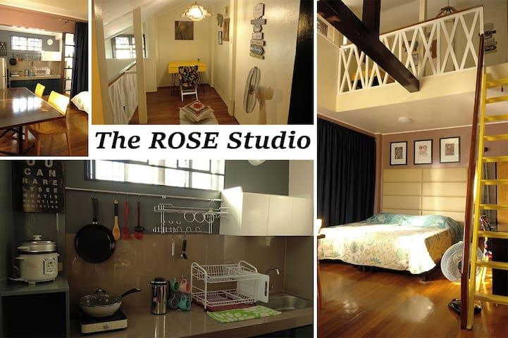 Rose Studio - spacious room with cozy loft