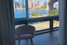 Full views to Sydney Harbour Bridge from bedroom